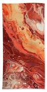 Terracotta Chocolate Fantasy  Bath Towel by Jenny Rainbow