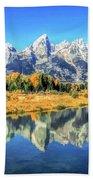Teton Reflections Bath Towel by Christopher Arndt