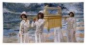 The Ark Passes Over The Jordan, 1902 Bath Towel