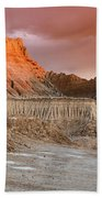 The Badlands With Another Sunrise Bath Towel