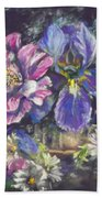 The Beauty Of Flowers Hand Towel by Ryn Shell