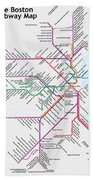 The Boston Pubway Map Iv Hand Towel