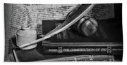 The Constitutional Lawyer In Black And White Bath Towel