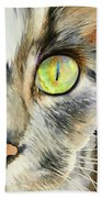 The Eye Of The Kitty Hand Towel