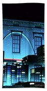 The Gateway Arch And The City Bath Towel