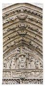 The Judgement Portal Of Notre Dame De Paris Hand Towel