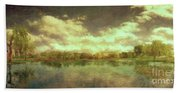 The Lake - Panorama Bath Towel