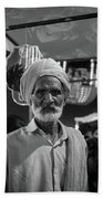 The Many Shades Of Delhi - Turbaned Man Bath Towel