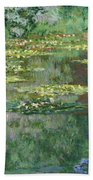 The Nympheas Basin - Digital Remastered Edition Bath Towel