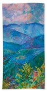 The Smoky Mountains Bath Towel by Kendall Kessler