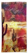 The Sonoran Saguaro  Bath Towel