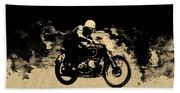 The Vintage Motorcycle Racer Bath Towel