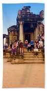 They Come To See Angkor Wat, Siem Reap, Cambodia Bath Towel