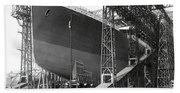Titanic In Belfast Dry Dock 1911 Bath Towel