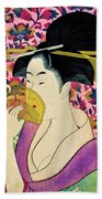 Top Quality Art - Woman With A Comb Bath Towel
