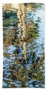 Tree Reflection Abstract Bath Towel by Kate Brown