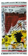 Tribute To Basquiat, Philosophy, And Activism Bath Towel