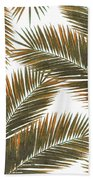 Tropical Palm Leaf Pattern 6 - Tropical Wall Art - Summer Vibes - Modern, Minimal - Brown, Copper Bath Towel