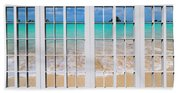 Tropical Paradise Beach Day Windows Hand Towel