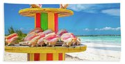 Turks And Caicos Conchs On A Spool Bath Towel