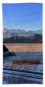 Turnagain Arm And Kenai Mountains Alaska Hand Towel