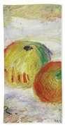Two Apples, 1875 Hand Towel