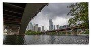 Urban Skyline Of Austin Buildings From Under Bridge With Stormy  Bath Towel