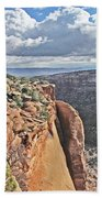 Valley Colorado National Monument Sky Clouds 2892 Bath Towel