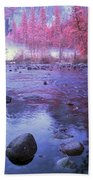 Valley River In Yosemite Hand Towel