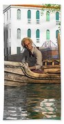 Venice Pause In The Evening Hand Towel