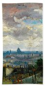 View Of Paris - Digital Remastered Edition Bath Towel
