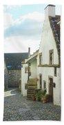 village cobbled lane in Culross Bath Towel