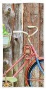 Vintage Bicycles Bath Towel