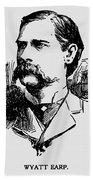 Vintage Newspaper Wyatt Earp Portrait 1896 - T-shirt Bath Towel