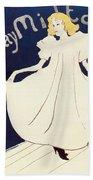 Vintage Poster - May Milton Bath Towel