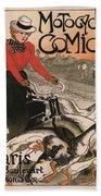 Vintage Poster - Motocycles Comiot Bath Towel