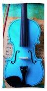 Violin Blues Hand Towel