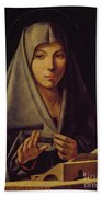 Virgin Annunciate By Messina Hand Towel