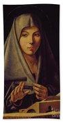 Virgin Annunciate By Messina Bath Towel
