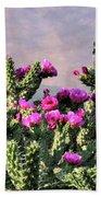 Walking Stick Cactus And Wren Bath Towel