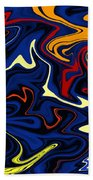 Warped Wet Paint Abstract In Comic Book Colors Bath Towel by Shelli Fitzpatrick