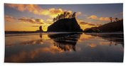Washington Coast Weeping Lady Sunset Cloudscape Bath Towel