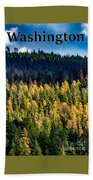 Washington - Gifford Pinchot National Forest Hand Towel