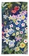 Watercolor - Alpine Wildflower Design Bath Towel