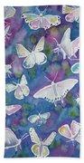 Watercolor - Butterfly Design Bath Towel