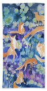 Watercolor - Fox And Firefly Design Bath Towel