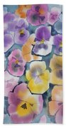 Watercolor - Pansy Design Hand Towel