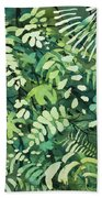 Watercolor - Rainforest Canopy Design Bath Towel