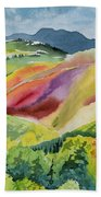Watercolor - Wilson Mesa Landscape Impression Hand Towel