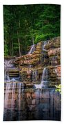 Waterfall At Top Of The Rock Hand Towel by Allin Sorenson